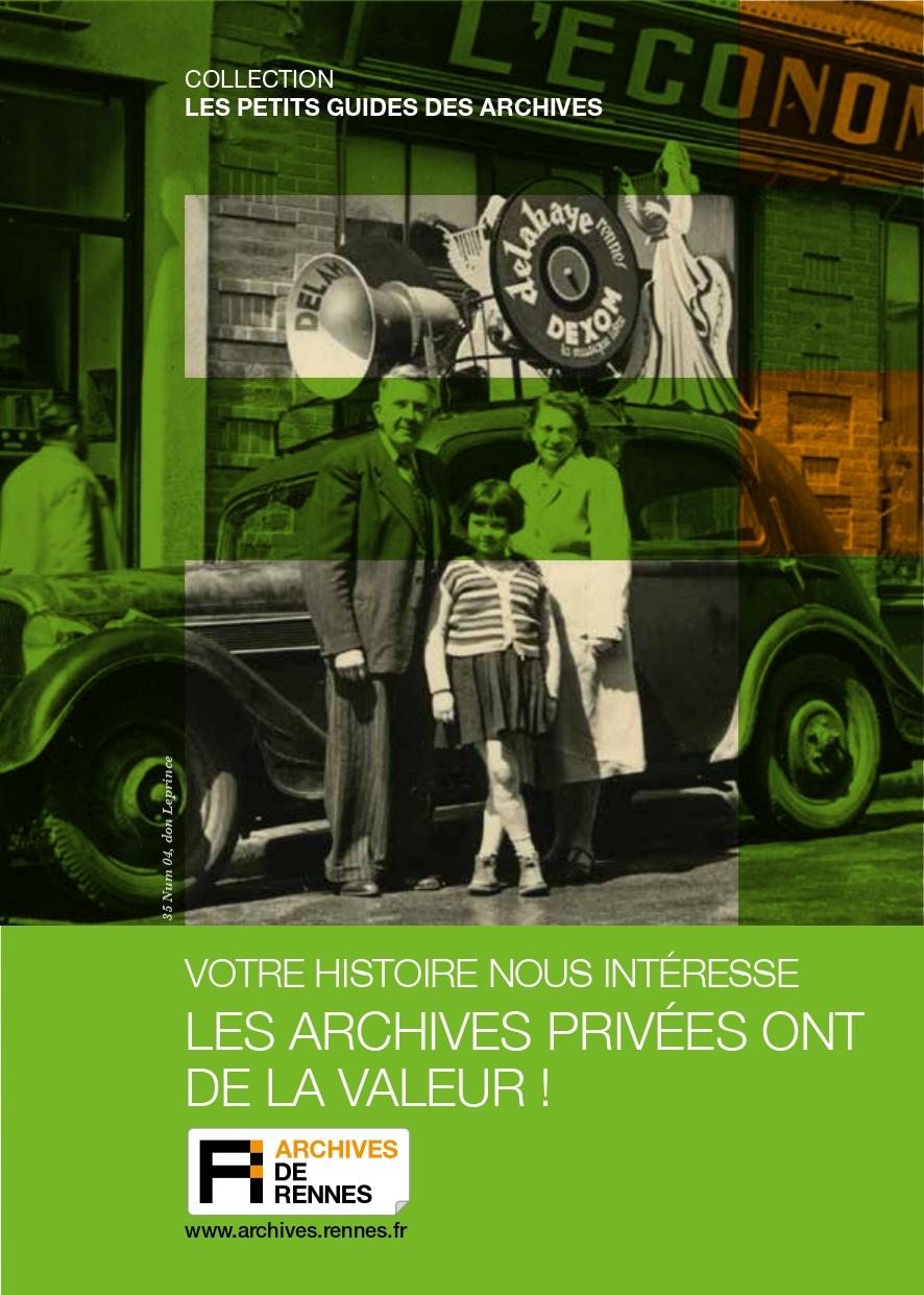 PDF - Les archives privées ont de la valeur